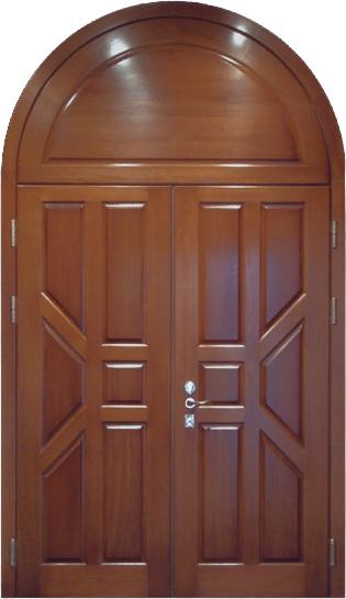входная арочная дверь с отделкой